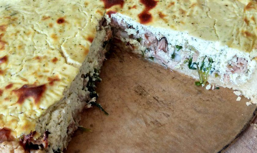 Quiche z tuńczykiem i gwiazdnicą (lub szpinakiem)